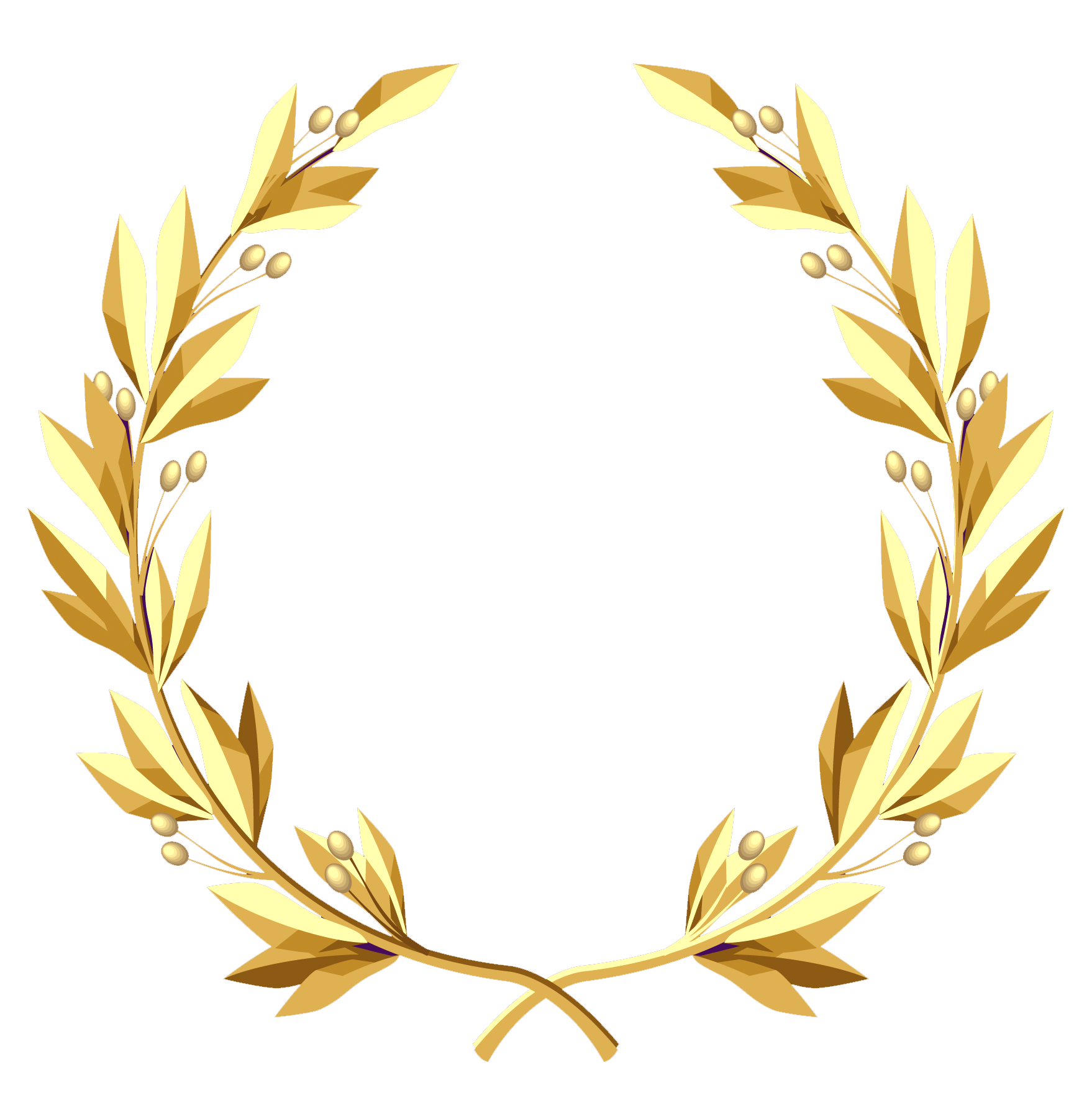 clip art royalty free Gold wreath clipart. Transparent png picture gallery