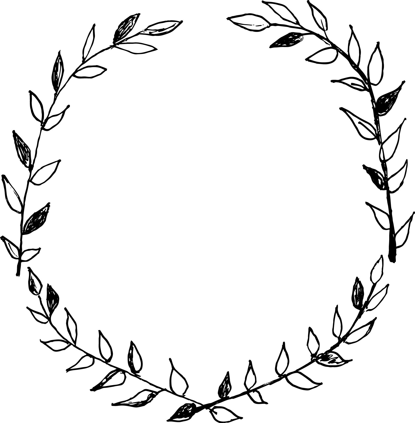 clipart library Branch wreath clipart. Drawing at getdrawings com