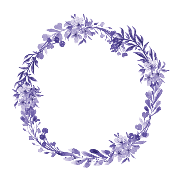 svg free Lavender wreath clipart. Watercolor png vectors psd