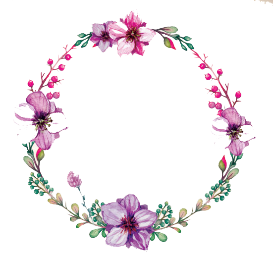 clip royalty free download Free with flowers download. Watercolor wreath clipart