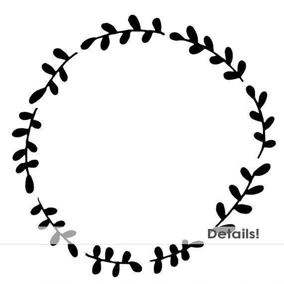 image download Wreath frame clipart. Laurel border cricut ideas