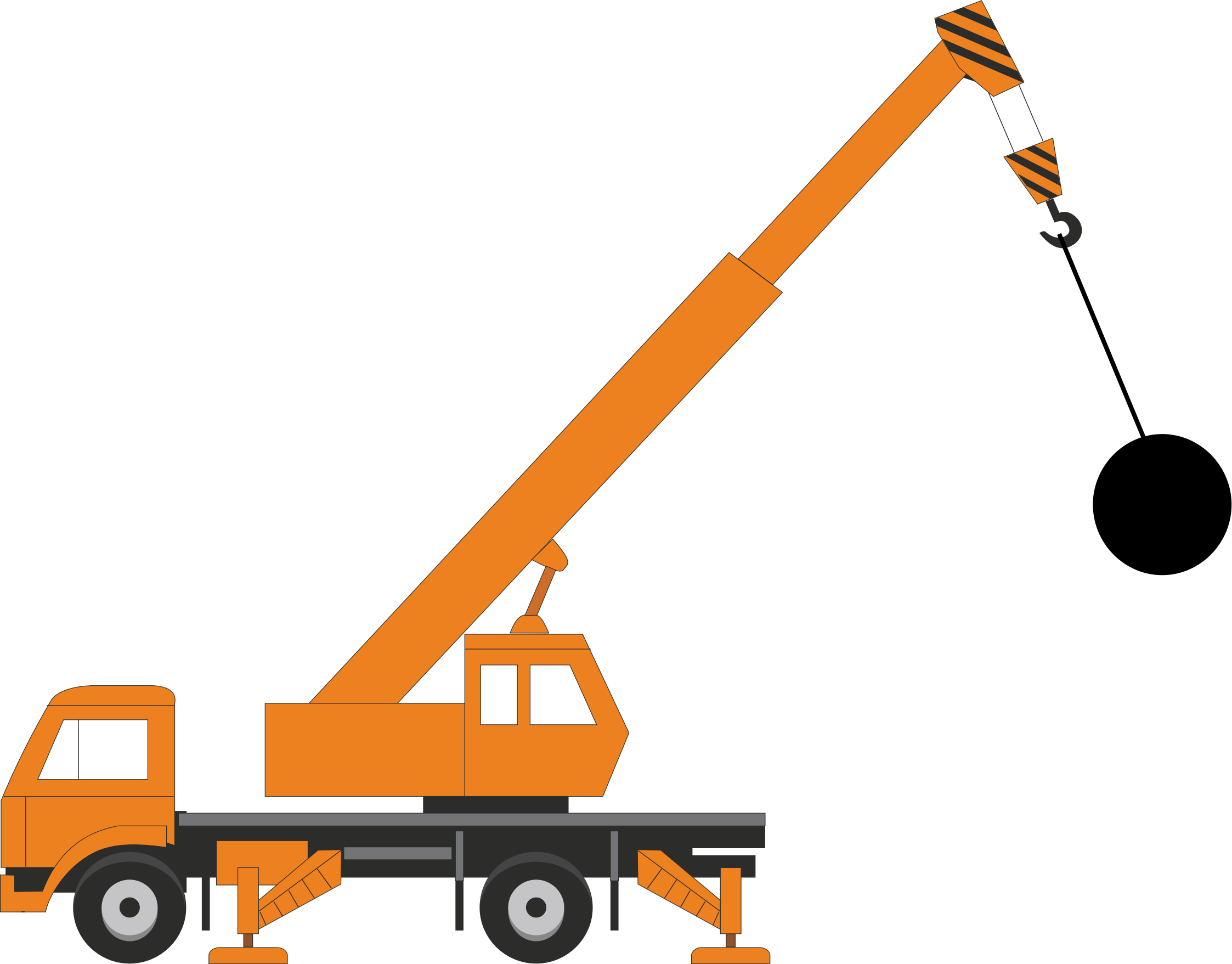 jpg free Clipart with wrecking ball. Vector constructors crane