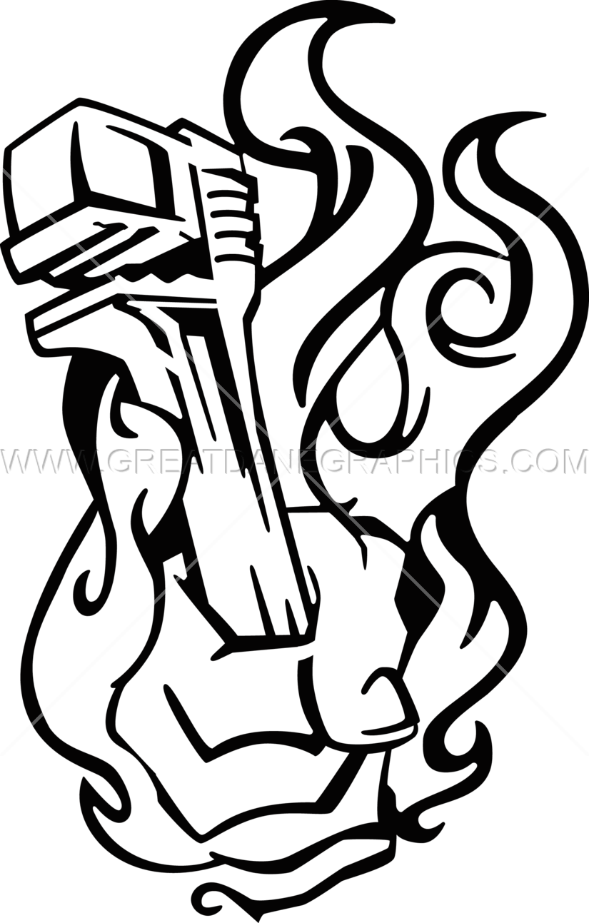 picture free library Pipe drawing at getdrawings. Wrench clipart black and white