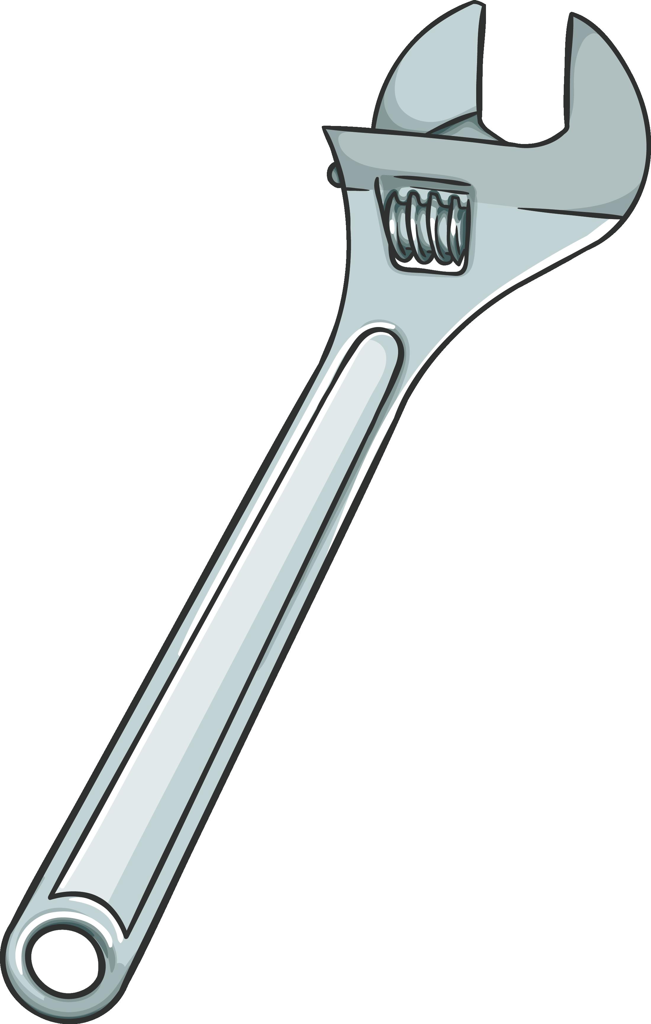 svg freeuse Vector wrench. Adjustable spanner download png