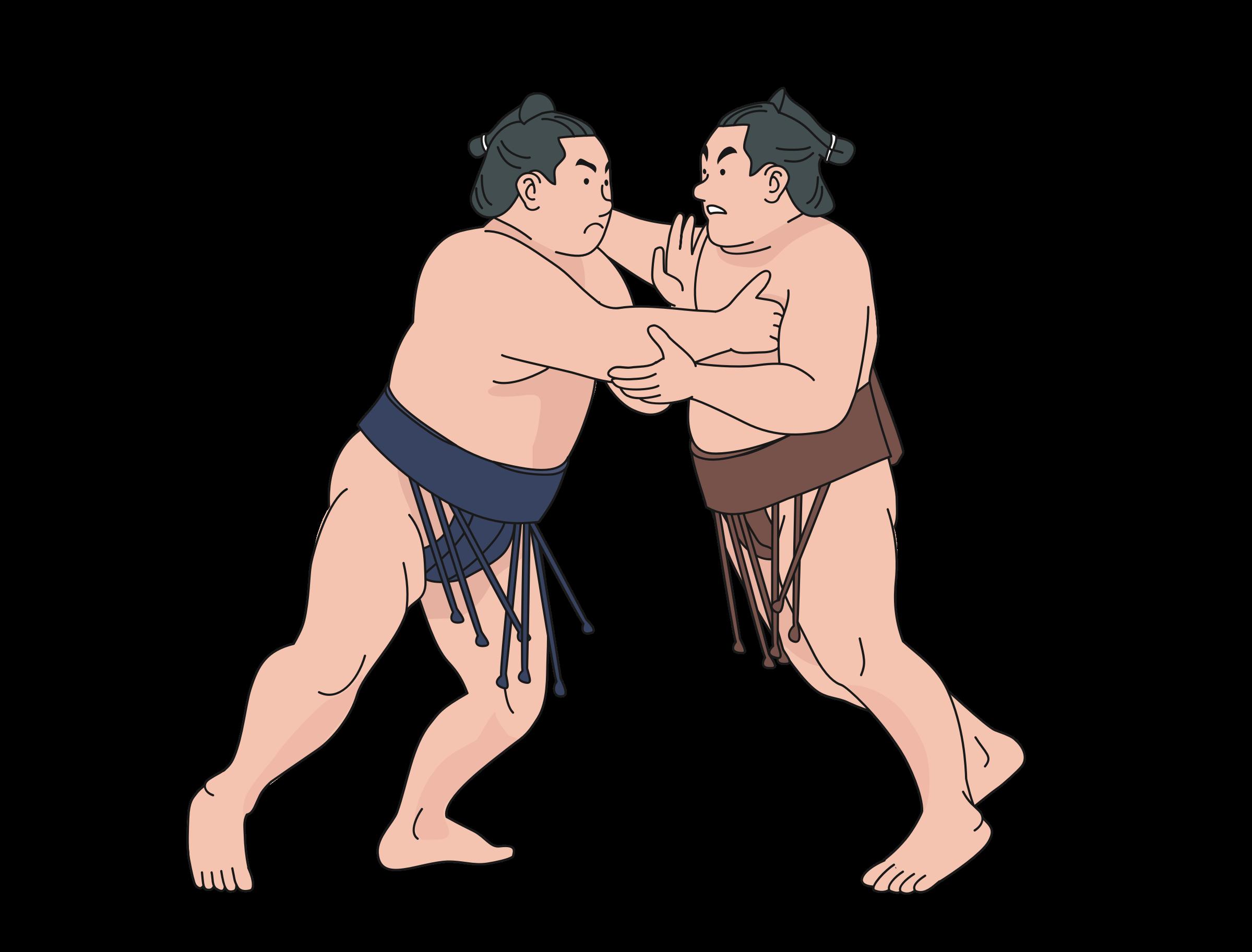 picture library Wrestler clipart sumo wrestler. Wrestlers big image png