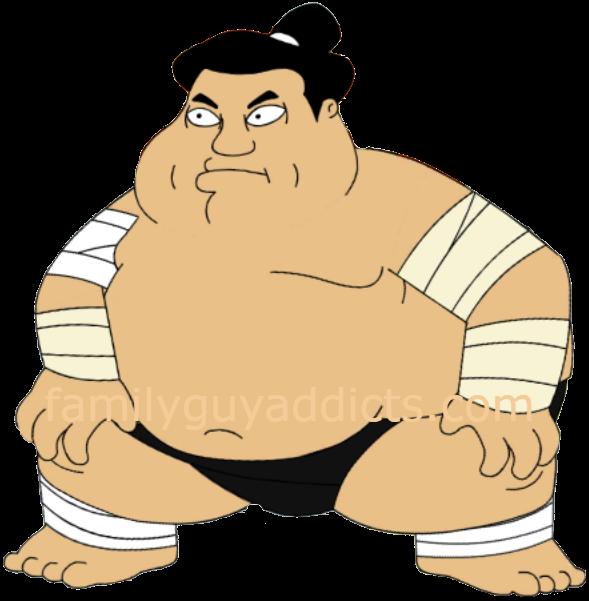 svg transparent download Family guy addicts sumowrestler. Wrestler clipart sumo wrestler