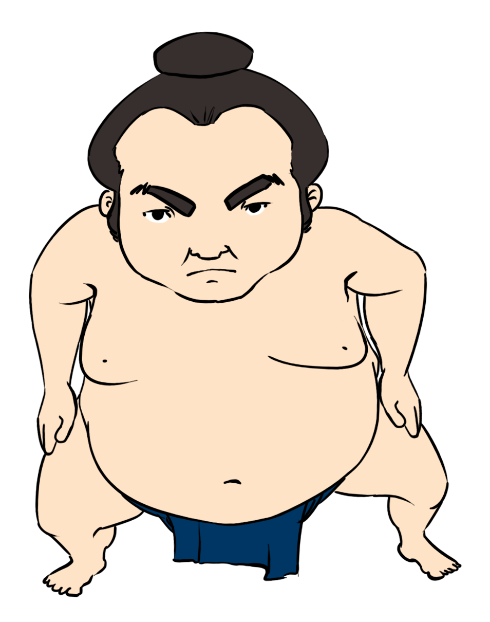 jpg black and white Wrestler clipart sumo wrestler. Wrestling clip art clipartix