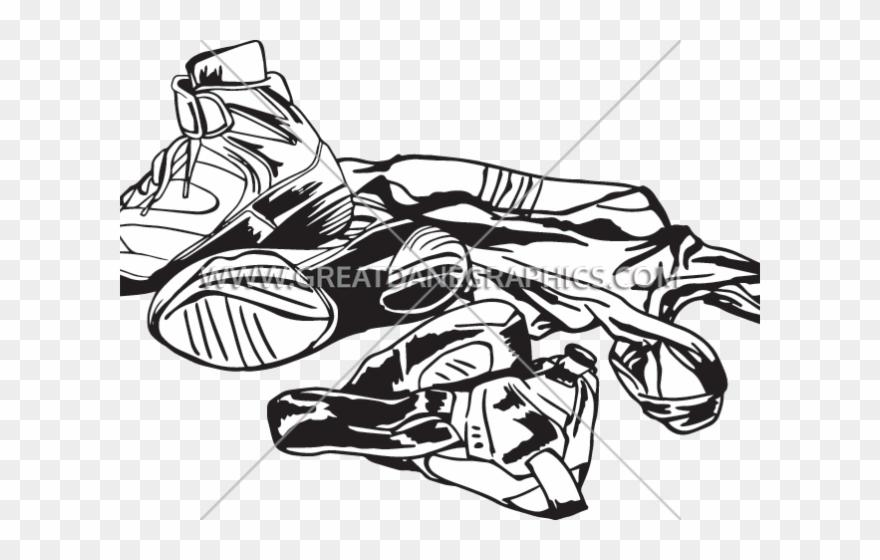 banner royalty free library Wrestler clipart wrestling shoe. Equipment headgear