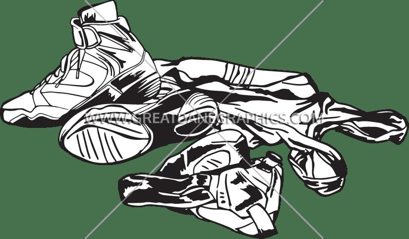 clipart download Wrestler clipart wrestling shoe. Gear production ready artwork