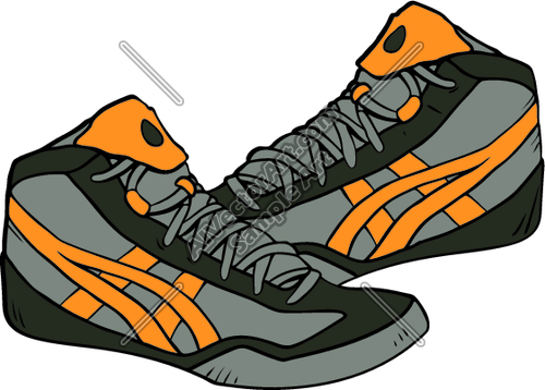 vector stock Wrestler clipart wrestling shoe. Shoes free download best