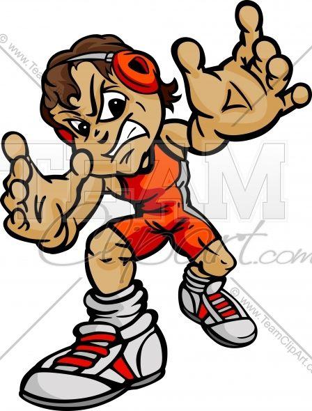 svg royalty free library Wrestler clipart youth wrestling. Cartoon body boy vector