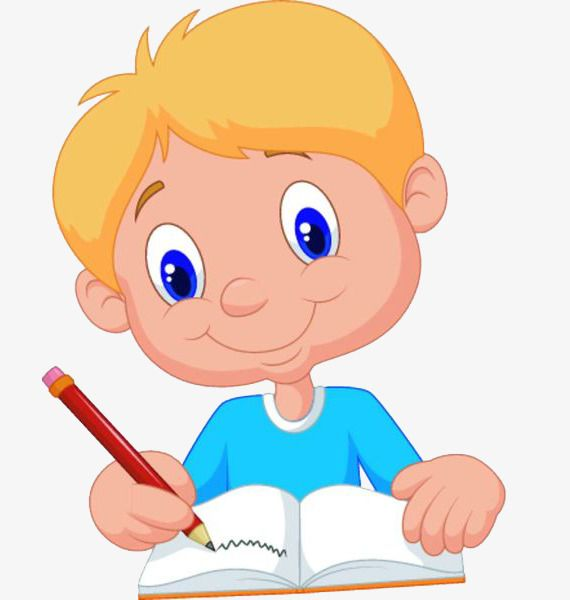 clipart free stock A education . Boy writing clipart