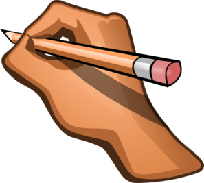 freeuse download Write clipart. Hand writing clip art