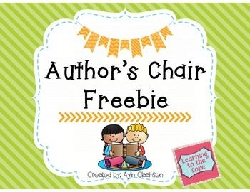 banner transparent library Writer clipart author's chair. Freebie cute author s