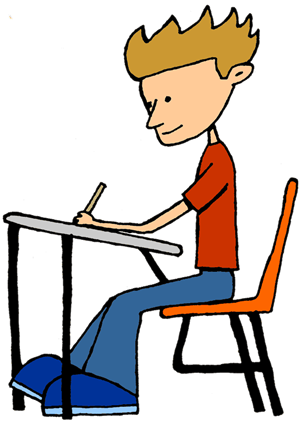 image free Taking my first nj. Writer clipart calm student