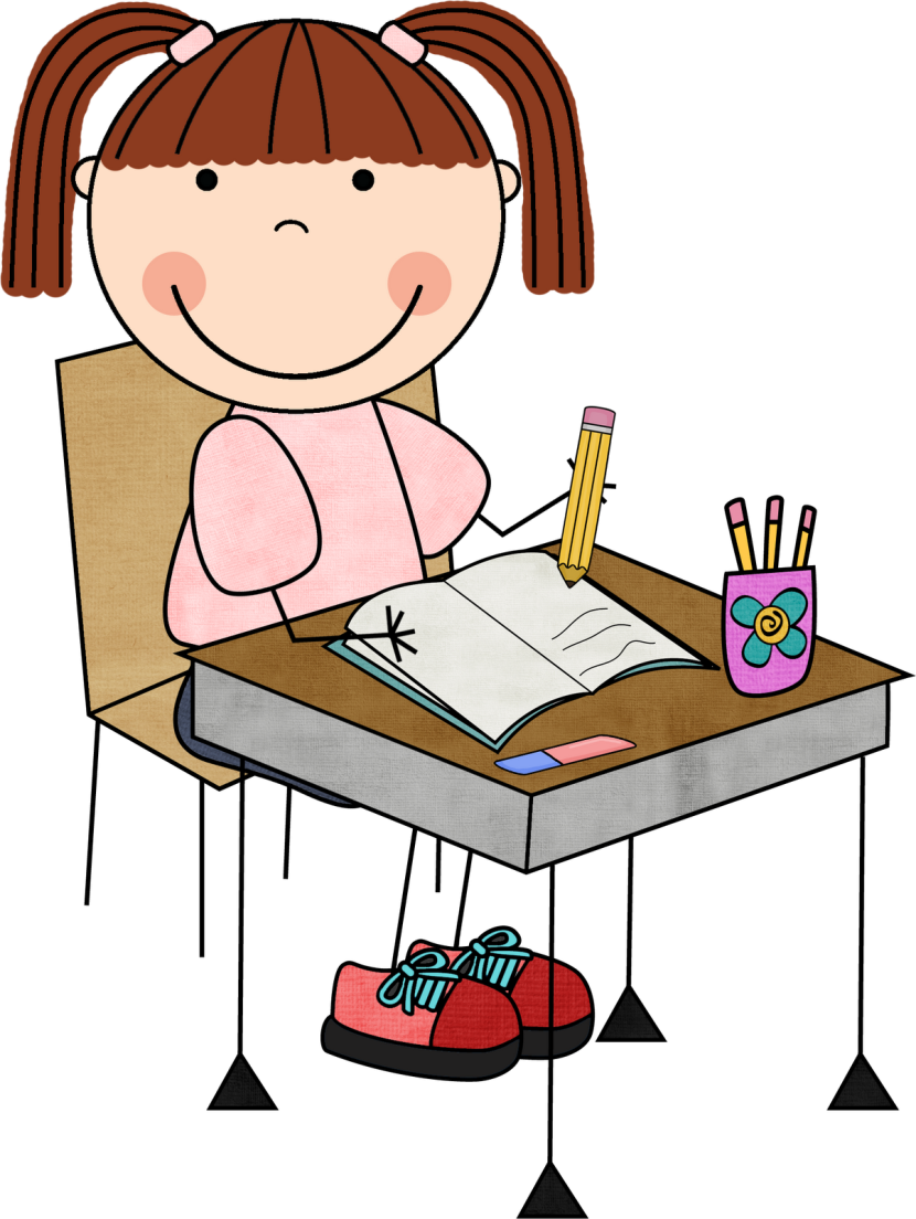 picture royalty free library Girl writing clipartion com. Writer clipart cartoon.
