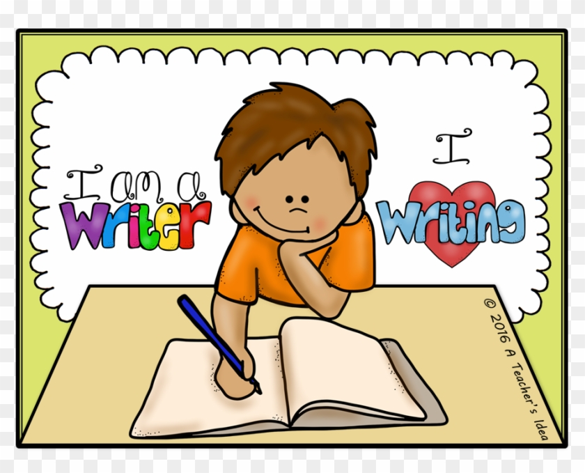 svg royalty free stock Writer clipart child. Writing children clip art.