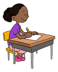 clipart transparent stock Children writing free download. Writer clipart child.