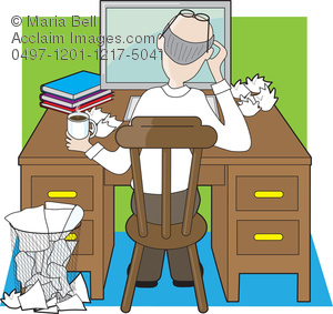 clip art transparent download Writer clipart crumpled paper. Stock photo man at.