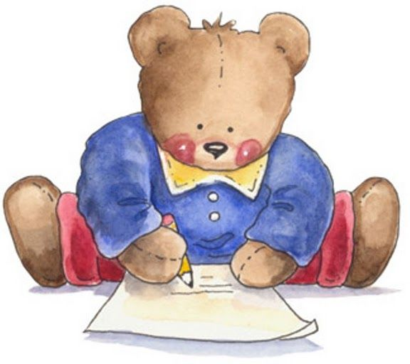 free download Writer clipart cute. Teddy bear clip art