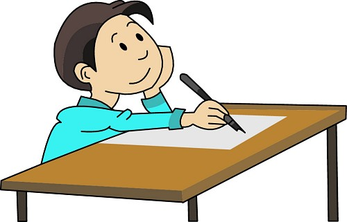 image black and white stock  student writing clipartlook. Writer clipart essay