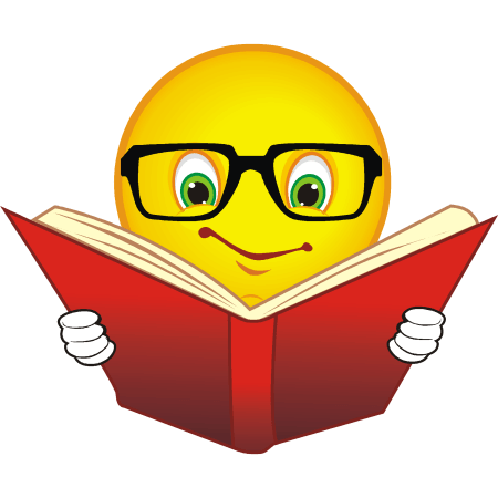 freeuse library Reading smile cliparts zone. Writer clipart face smiley