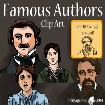 clip black and white download . Writer clipart famous author