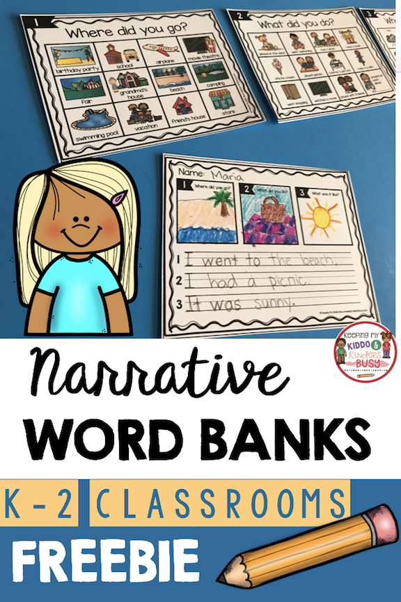 vector library Writer clipart guided writing. Narrative freebie kindergarten