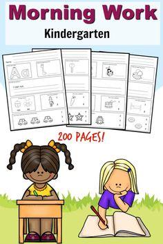 banner black and white Kindergarten routines . Writer clipart morning work