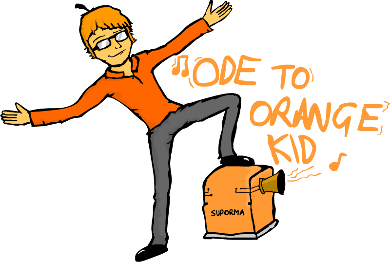 picture free To orange kid by. Writer clipart ode