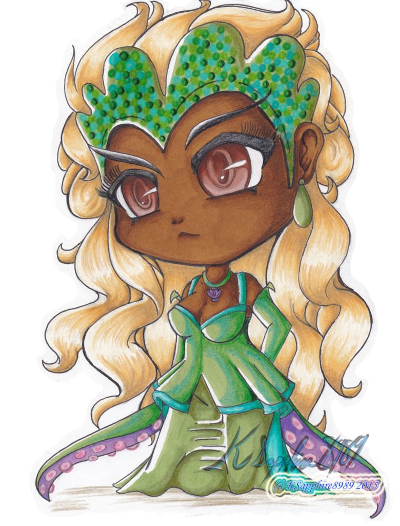 jpg transparent download Chibi once upon a. Ursula drawing cute