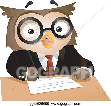 clip royalty free Vector art writing drawing. Writer clipart owl