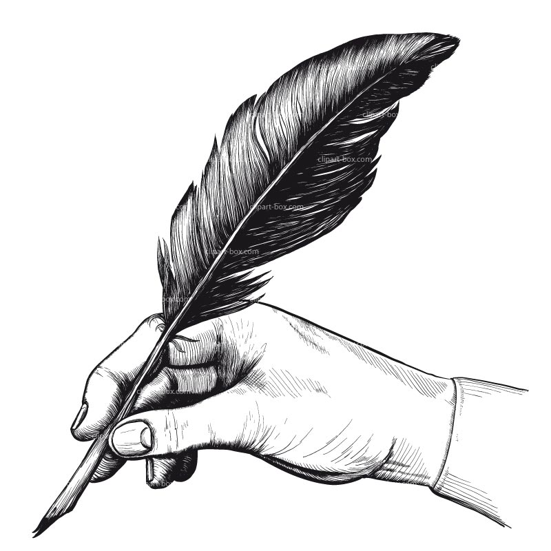 clipart transparent library Free feather cliparts download. Writer clipart quill