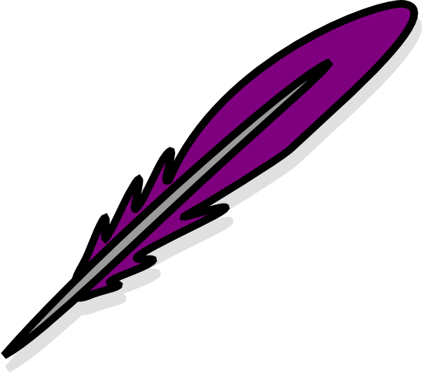 svg library download Writer clipart quill. Purple feather clip art