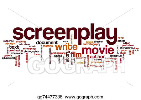 picture library stock Writer clipart screenplay. Word cloud stock illustration