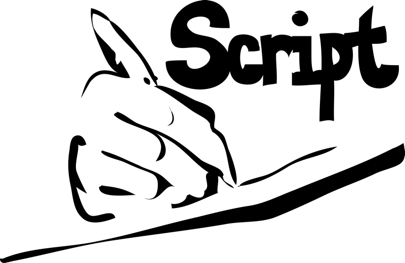 graphic royalty free download Writer clipart script. Writing .