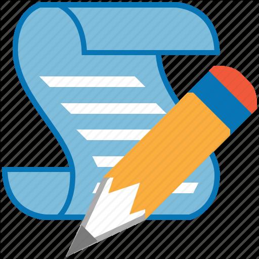 clipart transparent stock Writing cartoon blue transparent. Writer clipart script