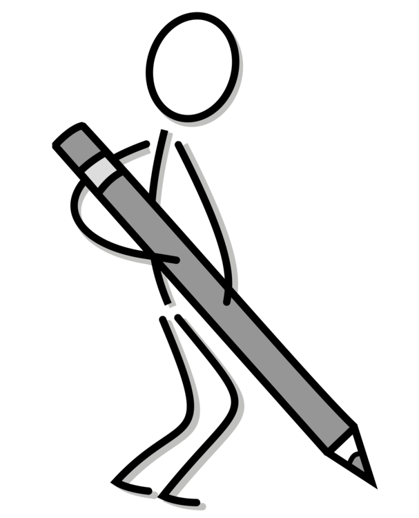 svg library stock Drawing line art writing. Writer clipart stick figure.