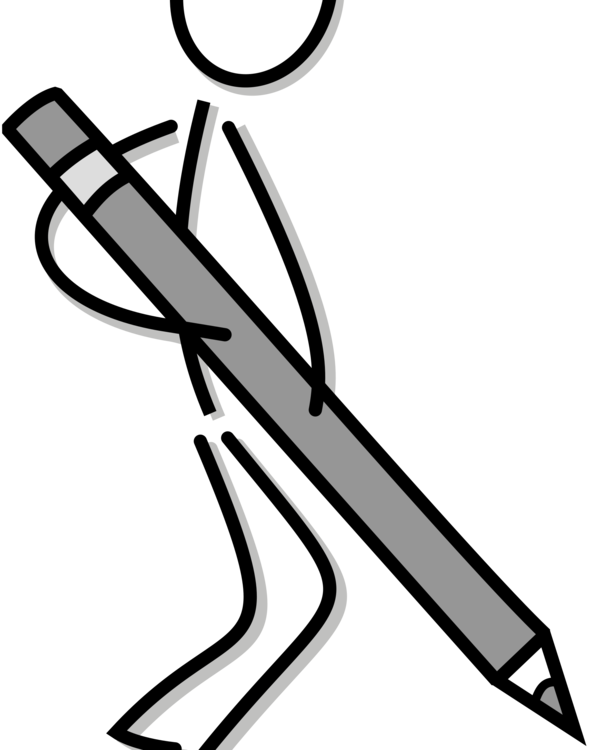 graphic black and white library Writer clipart stick figure. Drawing writing line art.