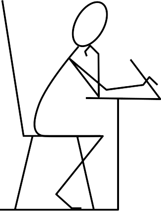 graphic free Writer clipart stick figure. Free stickman hello download.