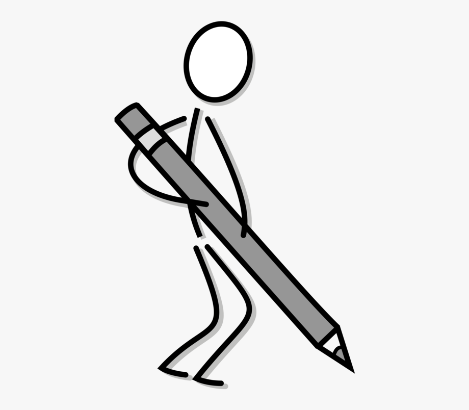 clipart black and white download Svg library stock drawing. Writer clipart stick figure.