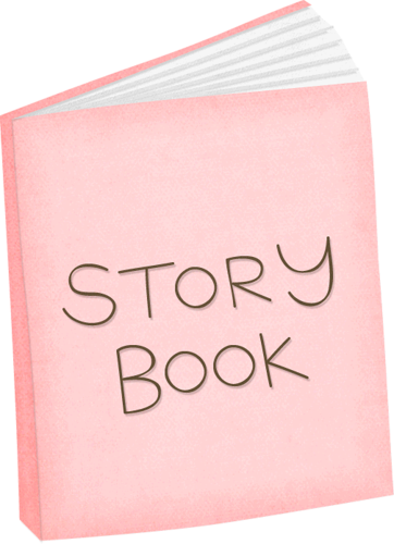 image transparent download Pink story book clip. Writer clipart storybook