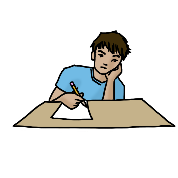 vector More ideas for essay. Writer clipart teacher grading papers.