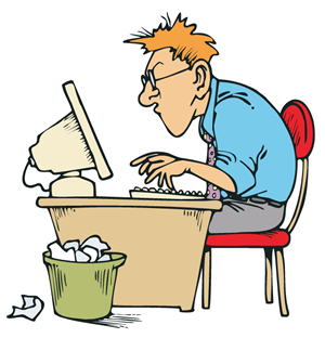 jpg freeuse library Sliding into techwhirl . Writer clipart technical writing