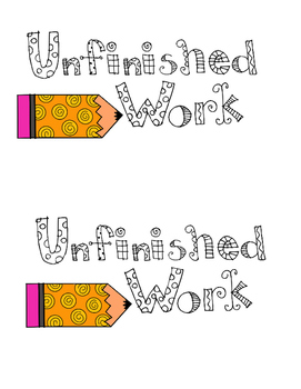 graphic royalty free library Folder worksheets teaching resources. Writer clipart unfinished work.