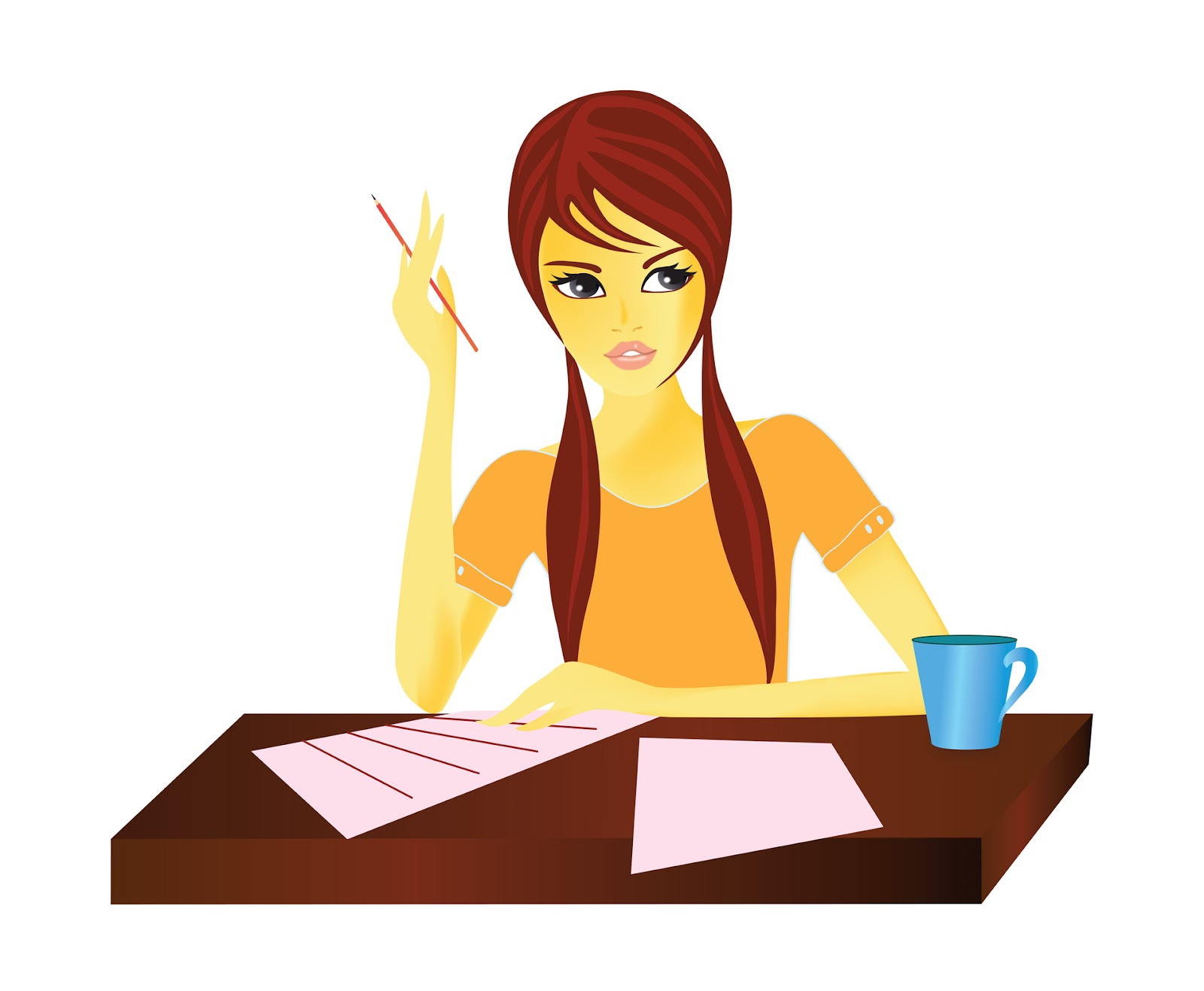png transparent download Writer clipart woman. Author lady transparent free