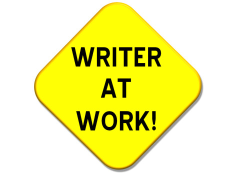 clip royalty free stock Take your writing seriously. Writer clipart work sign.