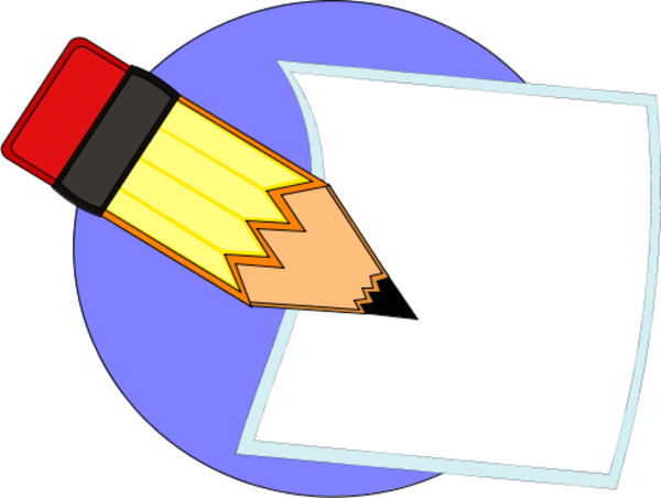 image Image of pencil writing. Writer clipart written warning
