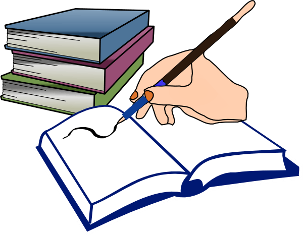 png black and white library And pencil collection man. Writing a book clipart