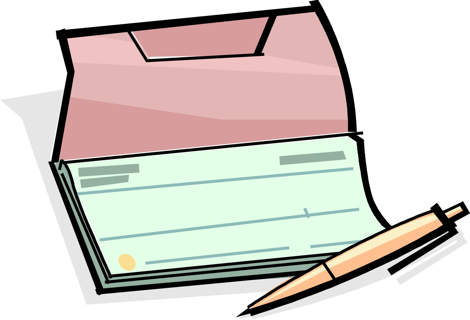 banner freeuse stock Writing a check clipart. Portal .